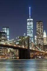 Keuken foto achterwand Shanghai The New York City skyline w Brooklyn Bridge