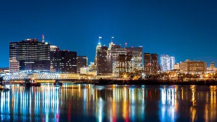 Newark, NJ cityscape by night Wall mural