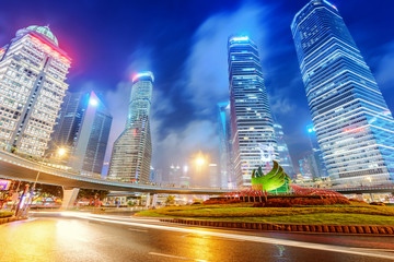 Shanghai's new Pudong banking and business distric