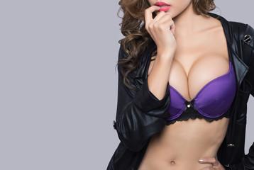 Beautiful slim body of woman