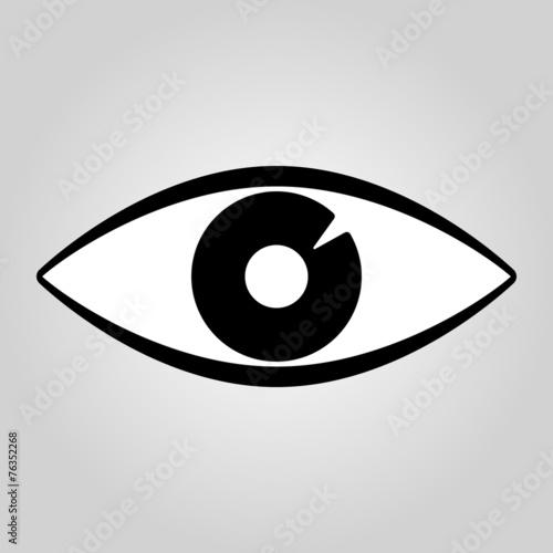 The Eye Icon Eye Symbol Flat Vector