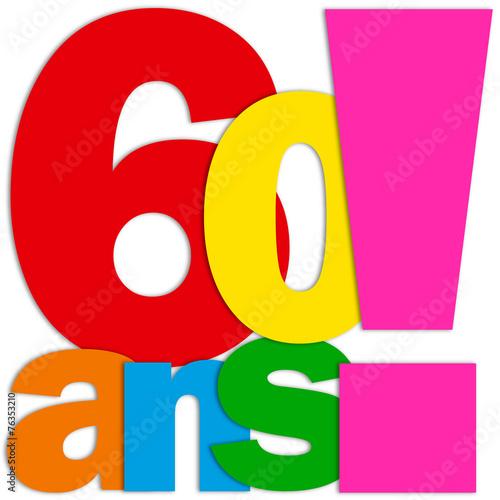 Ic ne 60 ans f te f licitations joyeux anniversaire fichier vectoriel libre de droits sur la - Clipart anniversaire 60 ans ...