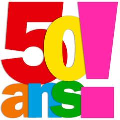 Icône 50 ANS (fête félicitations joyeux anniversaire)