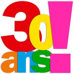 Icône 30 ANS (fête félicitations joyeux anniversaire)