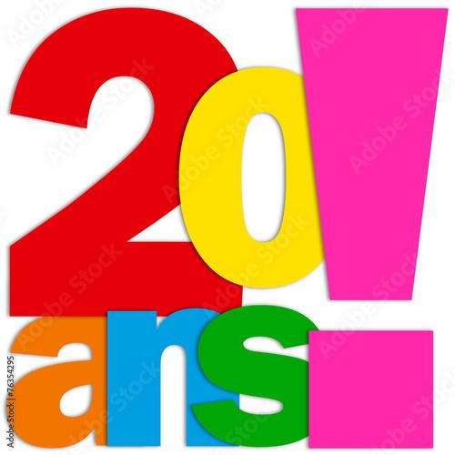 Icone 20 Ans Fete Felicitations Joyeux Anniversaire Fichier