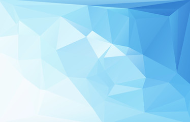 Blue polygonal mosaic background