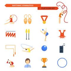 Gymnastics Icon Flat
