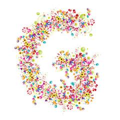 Floral letter G for your design.