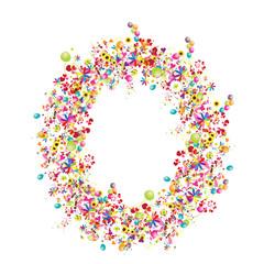 Floral letter O for your design.