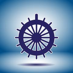 rudder vector icon