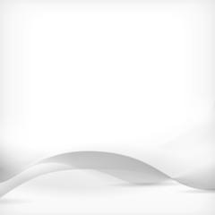 Clean monochrome gray, white business background wave design