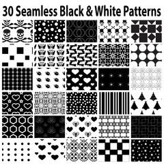 30 Black & White Seamless Patterns