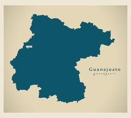 Modern Map - Guanajuato MX
