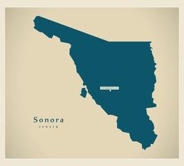 Modern Map - Sonora MX