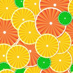 Citrus fruit slices background.