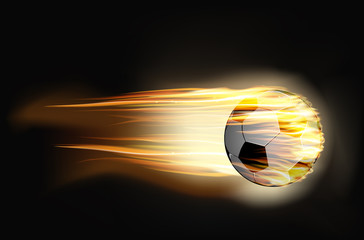 Soccer ball on fire