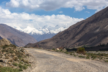 Tajikistan. Pamir highway. Road to the clouds