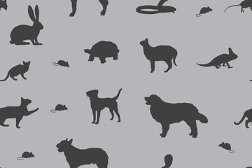 sap19 SeamlessAbstractPattern - pet shop various pets v6 - g3019
