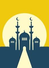 Ramadan background, mosque