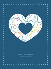 Vector colorful glasses heart symbol frame pattern invitation