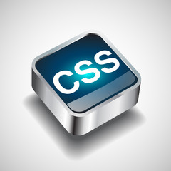 File format or file extension CSS icon for interface