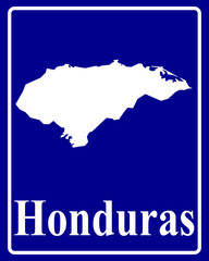 silhouette map of Honduras
