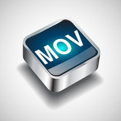 Video File format or file extension MOV icon for interface