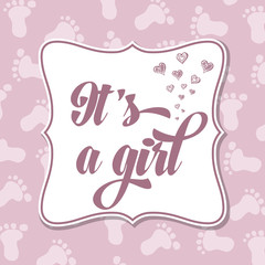 Baby girl invitation for baby shower