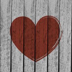 Old vintage heart