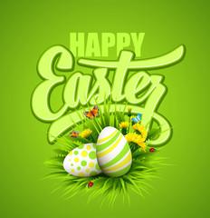 Easter greeting. Vector illustration