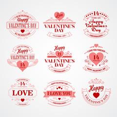 Typography Valentine's DayVector illustration
