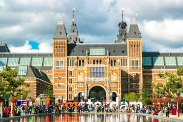 Photo sur Toile Amsterdam Rijksmuseum Amsterdam museum