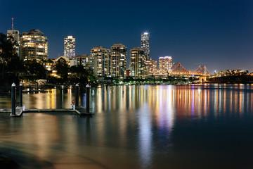Modern Australian city at night