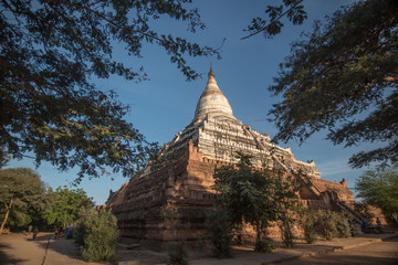 Shwesandaw temple at the archaeological site of Bagan on Myanmar