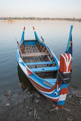 Boat made of wood, U-Bein Bridge, Amarapura, Myanmar