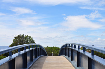 Arch Bridge with blue sky background