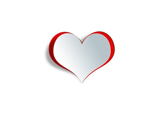 Heart shape on paper craft