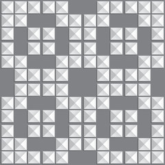Seamless geometric black and white cube pattern
