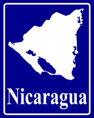 silhouette map of Nicaragua