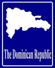 silhouette map of The Dominican Republic
