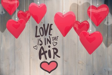 Wall Mural - Composite image of love is in the air