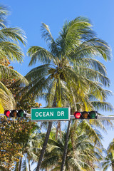 Famous Ocean Drive street sign