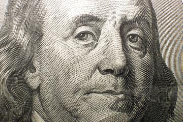 Portrait image of $100 US dollars