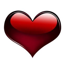 Red heart design element