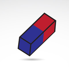 Eraser vector icon.
