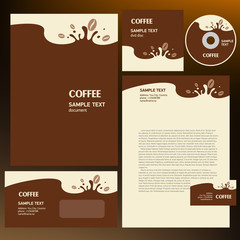 coffee cafe corporate identity