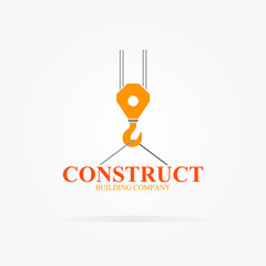 Vector crane logo for construction company