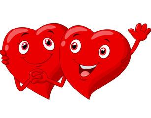 Cute Valentine hearts couple