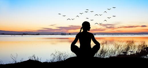 espiritualidad en el lago Fototapete