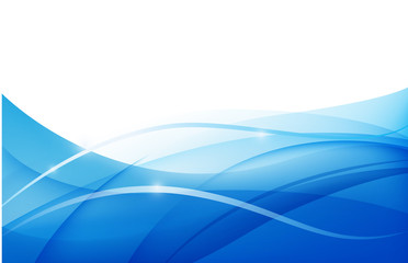 vector abstract blue wavy water background, wallpaper